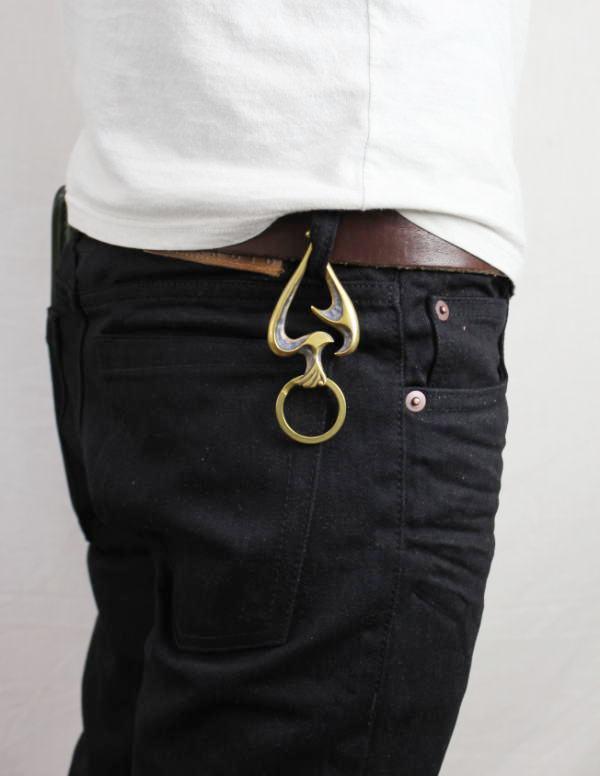 正規取扱 VASSER(バッサー) Fire Bird Spade Key Chain Antique Brass(ファイヤーバードスペードキーチェーンアンティークブラス)